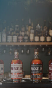 Russell's Reserve bottles on a bar