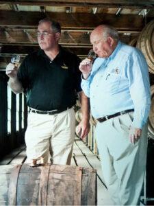 Eddie and Jimmy Russell tasting whiskey