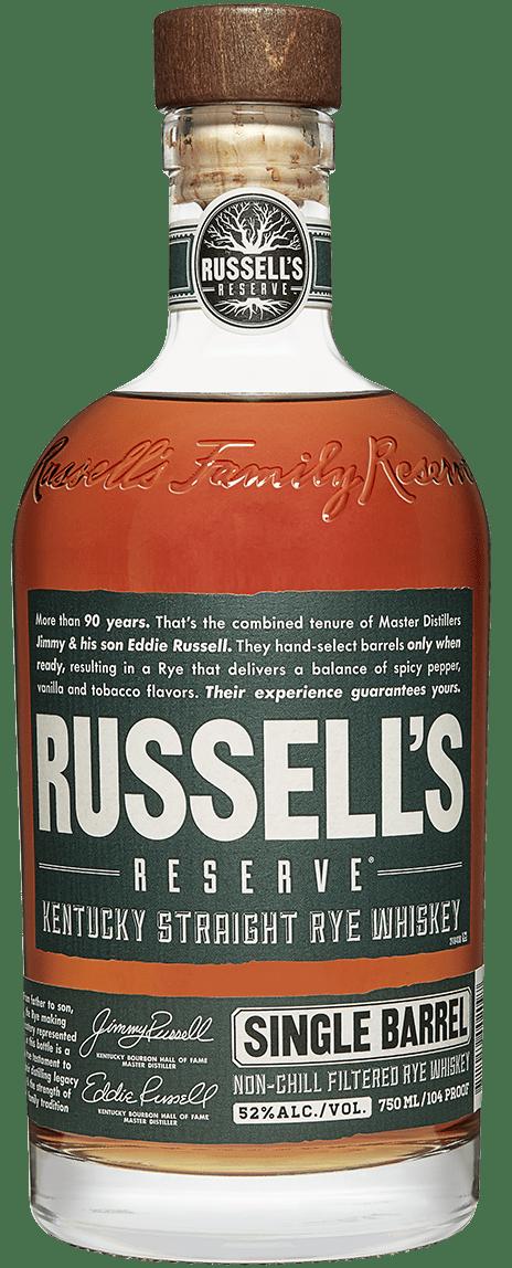 Russell's Reserve Single Barrel Rye Bottle